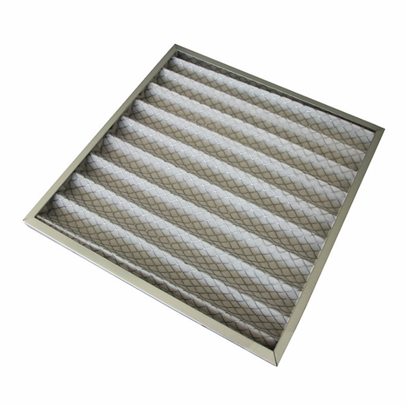 Panel air handling unit for air filter cleaning