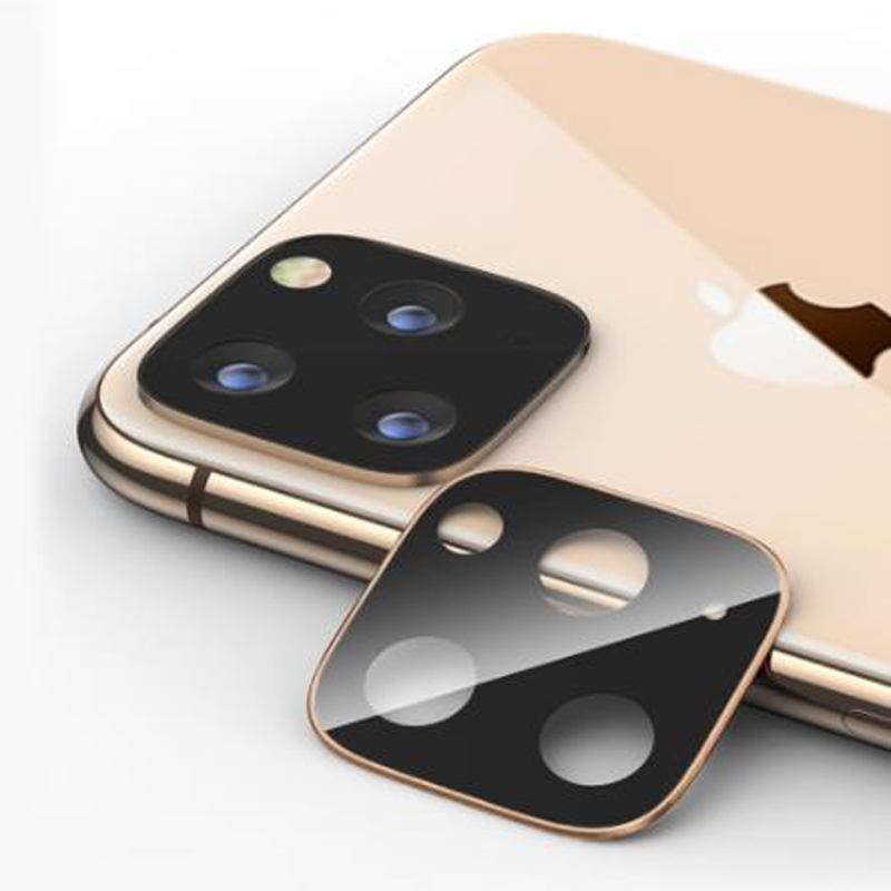 New 2020 Trending For iPhone 11 Full Coverage Metal Tempered Glass Camera Protector for Apple Bcak Lens Screenprotector Film