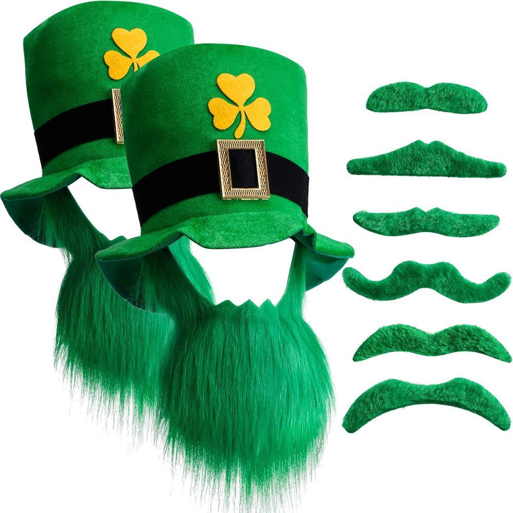 Irish Cappello Da Giullare Costume Festa Sport Rugby Costume Set in EIRE St Patrick/'s Day