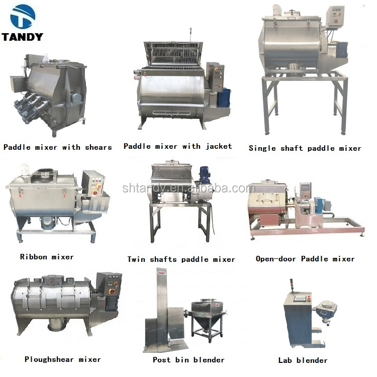 Ribbon Blender industrial food powder mixer for animal feed processing