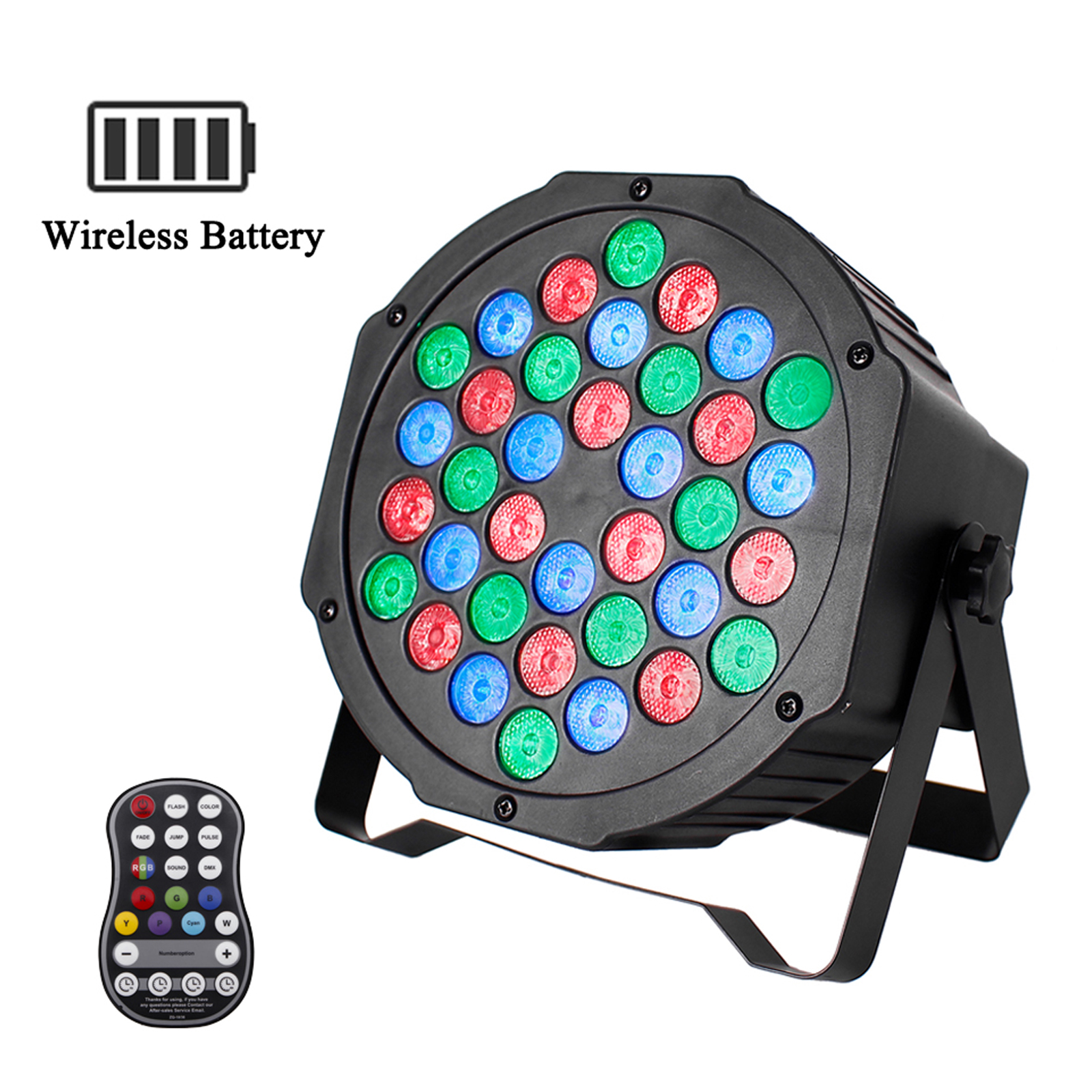 U`King RGB Battery Powered Wireless LED Par Can Uplight Stage Lights