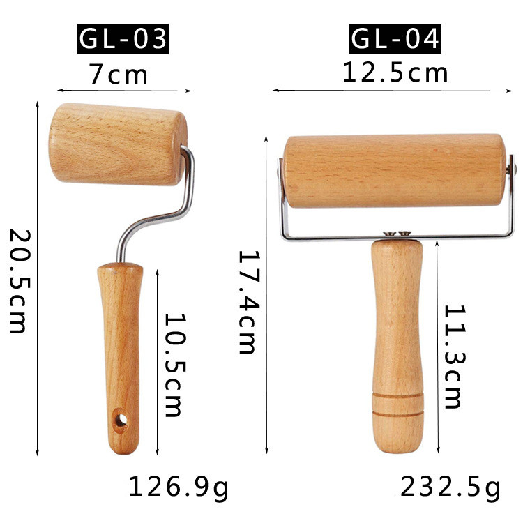 Eco Friendly Private Label Kitchen Wood Rolling Pin Baking Tools
