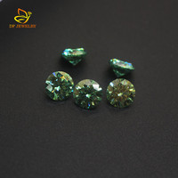 VVS Green Round Brillant cut Synthetic Diamond Moissanite For Ring