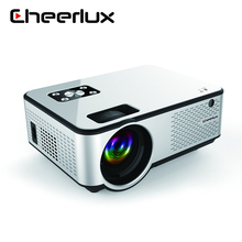 CHEERLUX C9 <span class=keywords><strong>LED</strong></span> LCD 3D ev projektör 1280*720p HD Video Beamer 2800 lümen ile