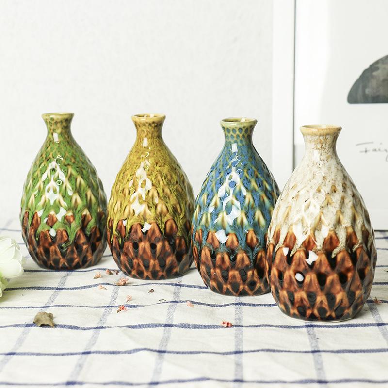 Керамическая ваза цветочный горшок Ананас Форма стол творческий ручной работы фарфор украшение дома E