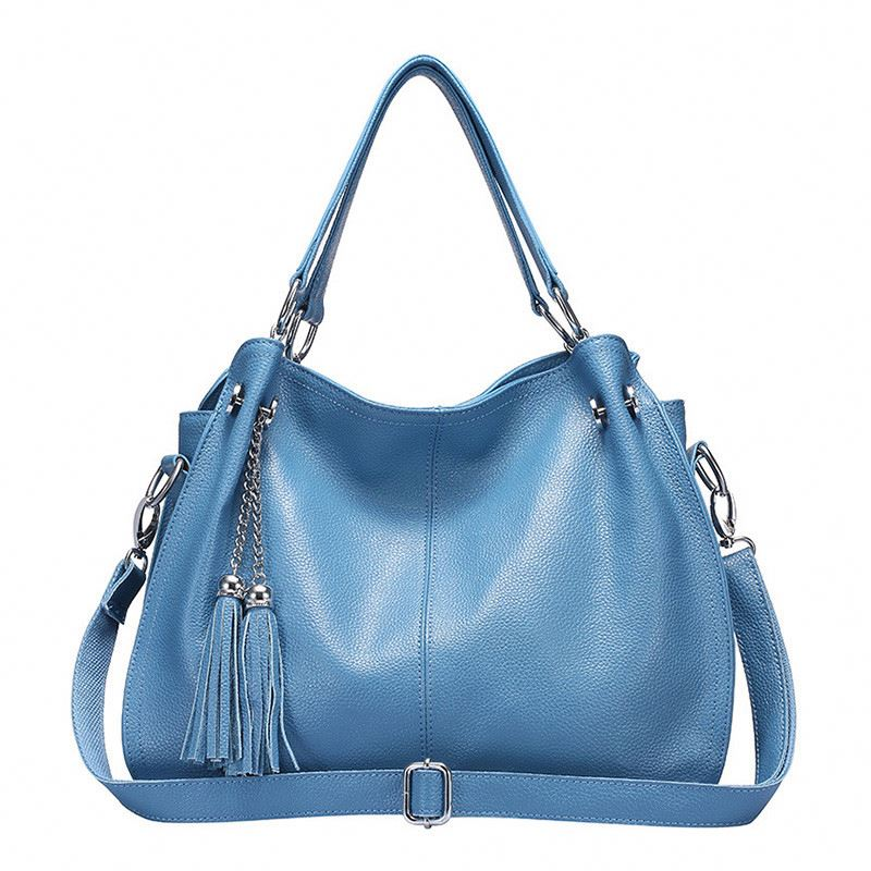 Fashion Tassel Women <strong>Genuine</strong> <strong>Leather</strong> <strong>Bag</strong> Female <strong>Hobos</strong> Shoulder <strong>Bags</strong> High Quality <strong>Leather</strong> Tote <strong>Bag</strong> Handbag
