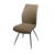 Hotsale comfortable clear swing relaxing salon chair with chromed metal frame home furniture