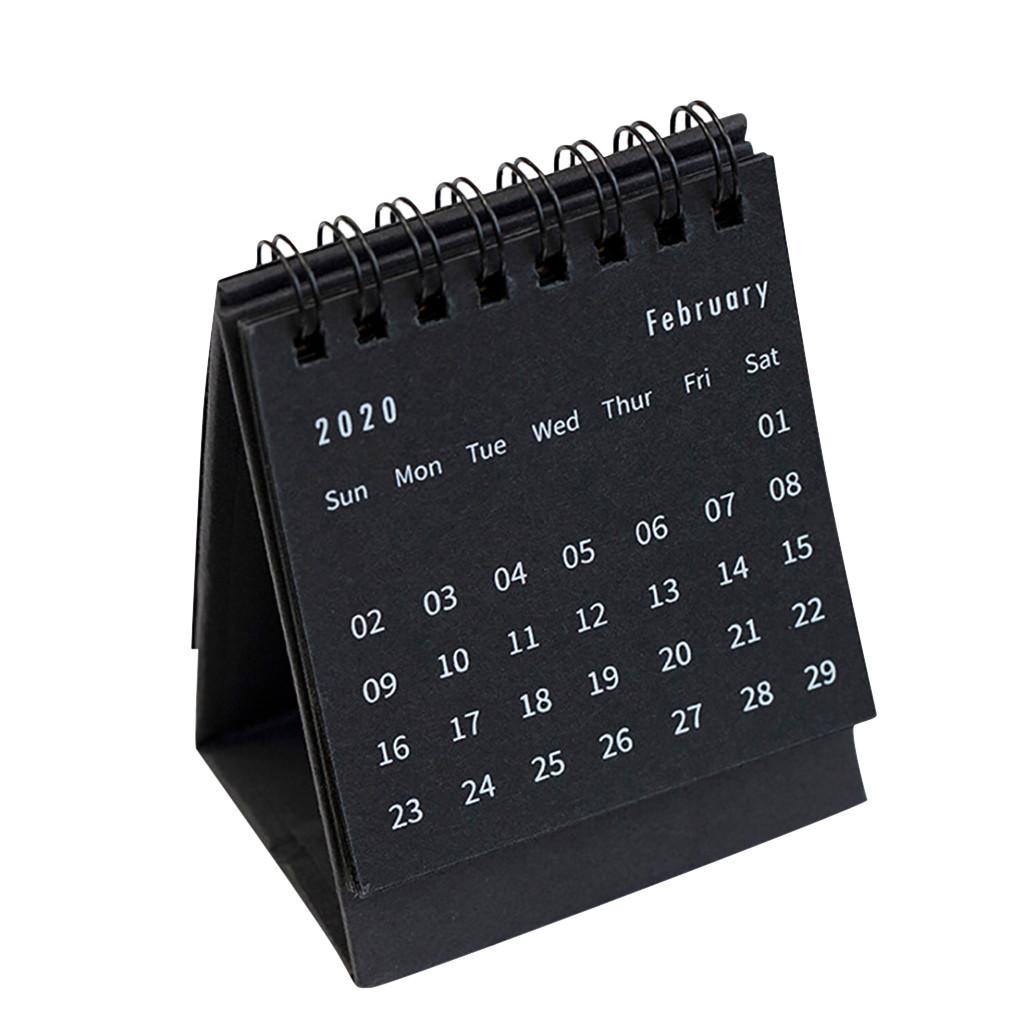 2020 настольный мини-календарь с откидной крышкой, ежедневный ежемесячный Настольный органайзер для дома, школы, офиса, использования, настол...(Китай)