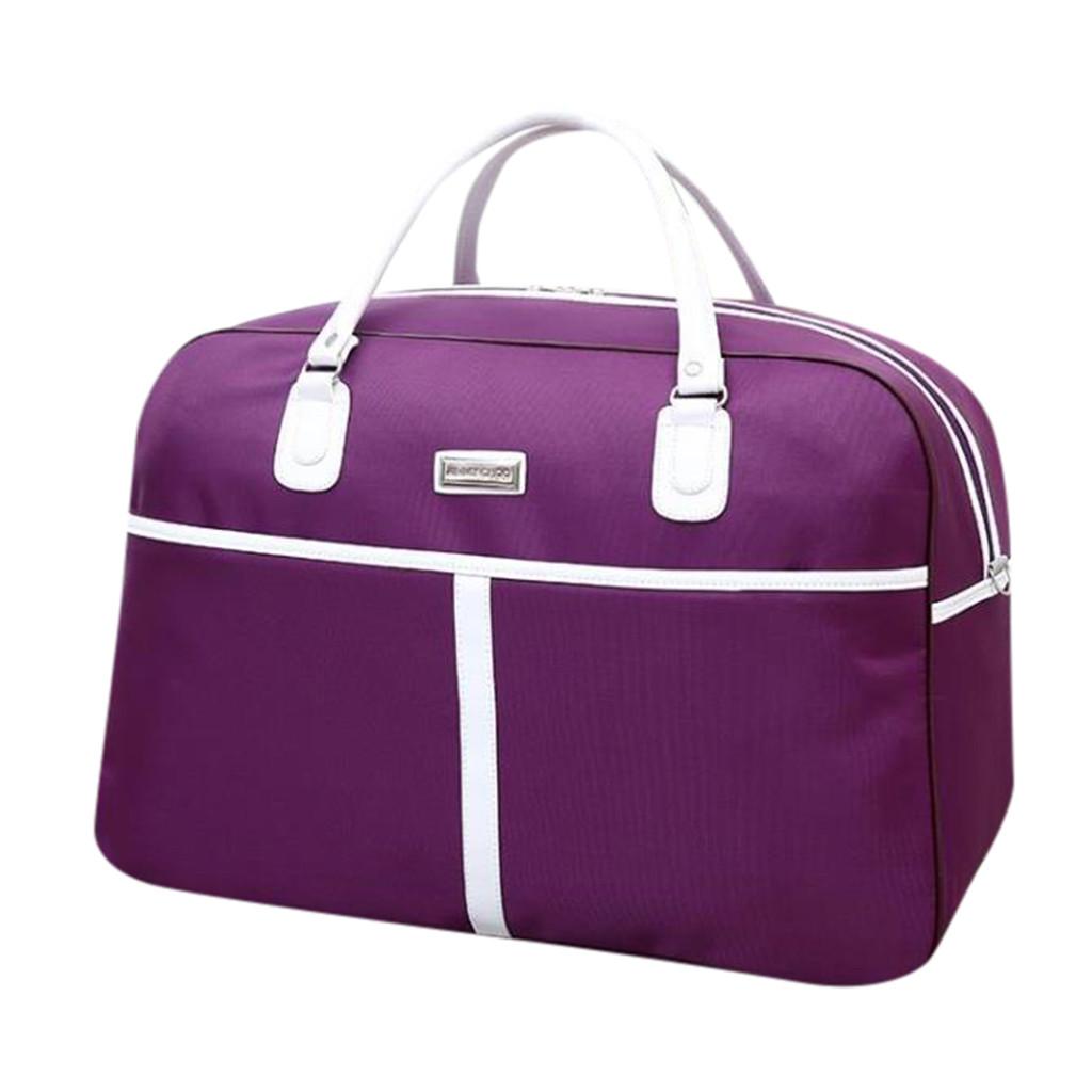 MAIOUMY, женская сумка для путешествий на ночь, выходные, женская сумка в полоску, большая дорожная сумка, светильник для багажа, мужские складн...(Китай)