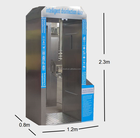 Public places use sanitizing channel tunnel gate disinfection chamber door with UV Ozone sanitizing equipment