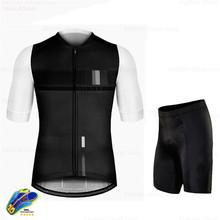 Мужской комплект Джерси для велоспорта 2020 Pro Team велосипедная одежда Ropa Ciclismo Mtb горный велосипед Летний дышащий комплект с шортами(China)