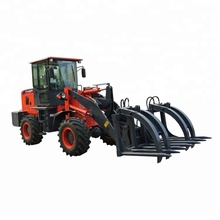 China 2 Ton Kompak Kecil Pemandangan Skid Steer Telescopic Wheel Loader