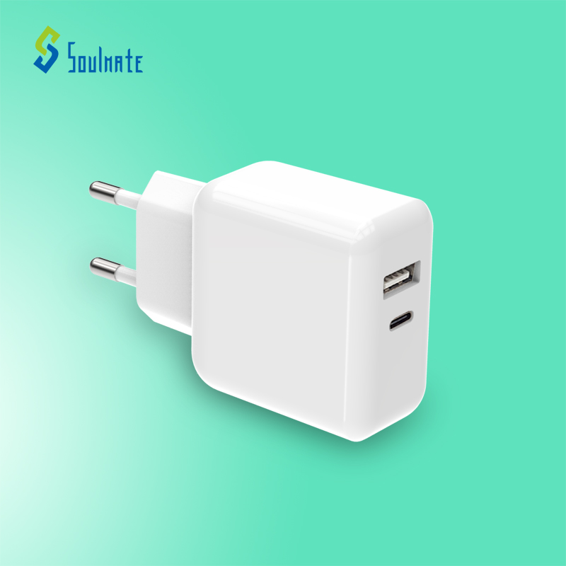 Kc saa Indien stecker qualcomm 3,0 reise adapter multi 2 dual port qc schnelle usb-c typ c 18w pd wand ladegerät
