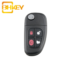 4 Buttons NHVWB1U241 433 Mhz ID60 Chip Car Key Fob Flip Remote Key For Jaguar S type X type XJ XJR Auto Parts