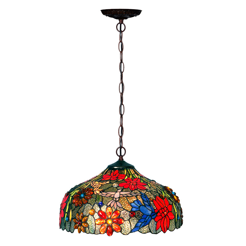 European Style High Quality Stained Glass Chandelier for Decoration Home Tiffany Lamps Pendant
