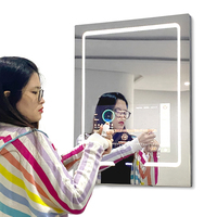 Factory Price Google play Youtobe bath mirrors smart led mirror touch screen magic mirror screen for bathroom
