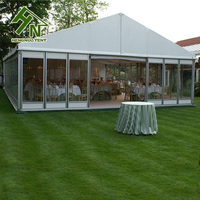 20x30m Outdoor Glass Wall Clear Wedding Party Tents For 500 People