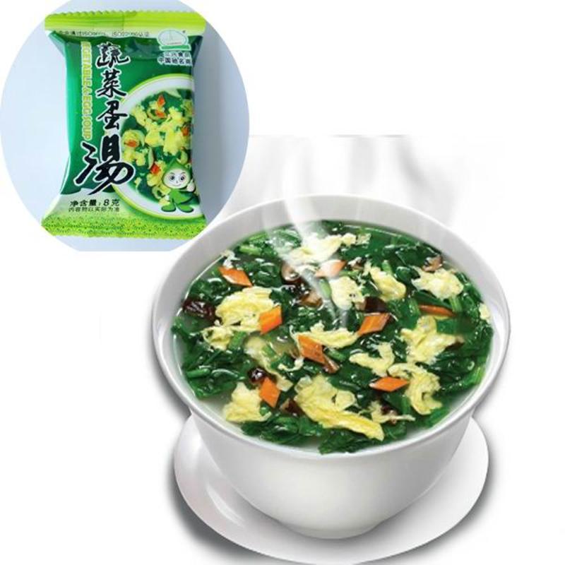 Embalagem a vácuo congelar alimentos secos vegetal instantâneo sopa de ovo
