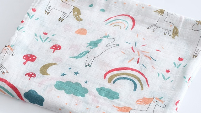 Customize Cotton/Bamboo Baby Muslin Swaddle Blankets 1/2/3/4 Set Pack In Gift Box MOQ OEM