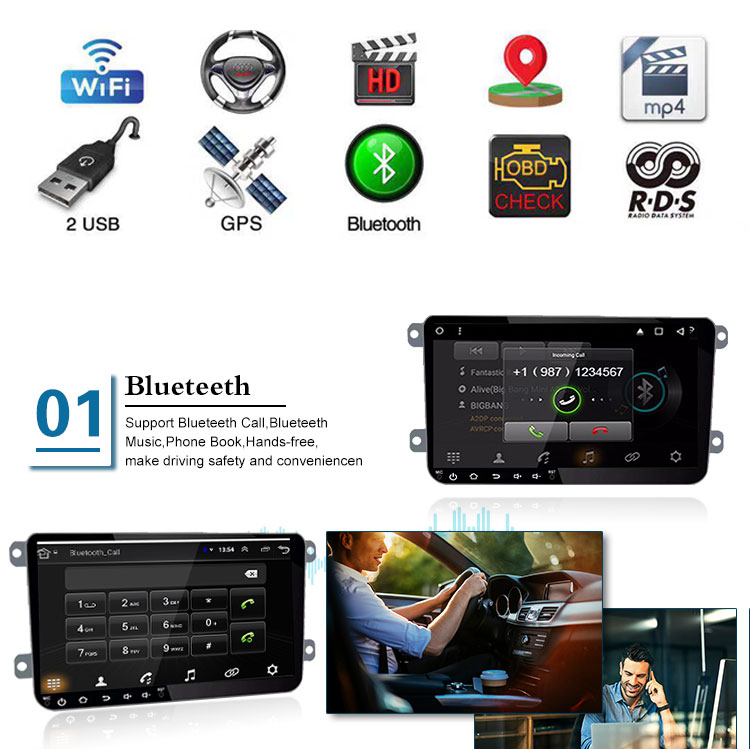 New Arrivals  Android 8.0 GPS 2 Din Auto Dvd radio Multi Media Gps car player