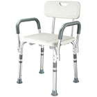 Aluminum alloy Anti-skid armrest folding handicap elderly bath chair