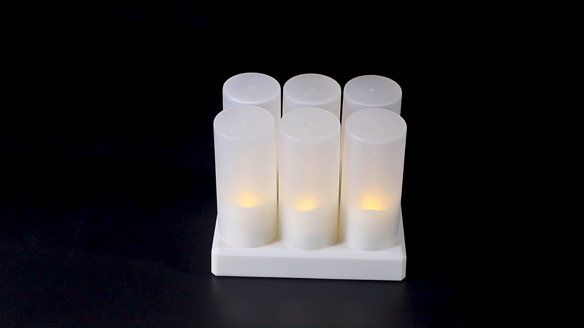 Flameless Candles with Rechargeable Base Led Candle Flickering Tea Lights with Timer