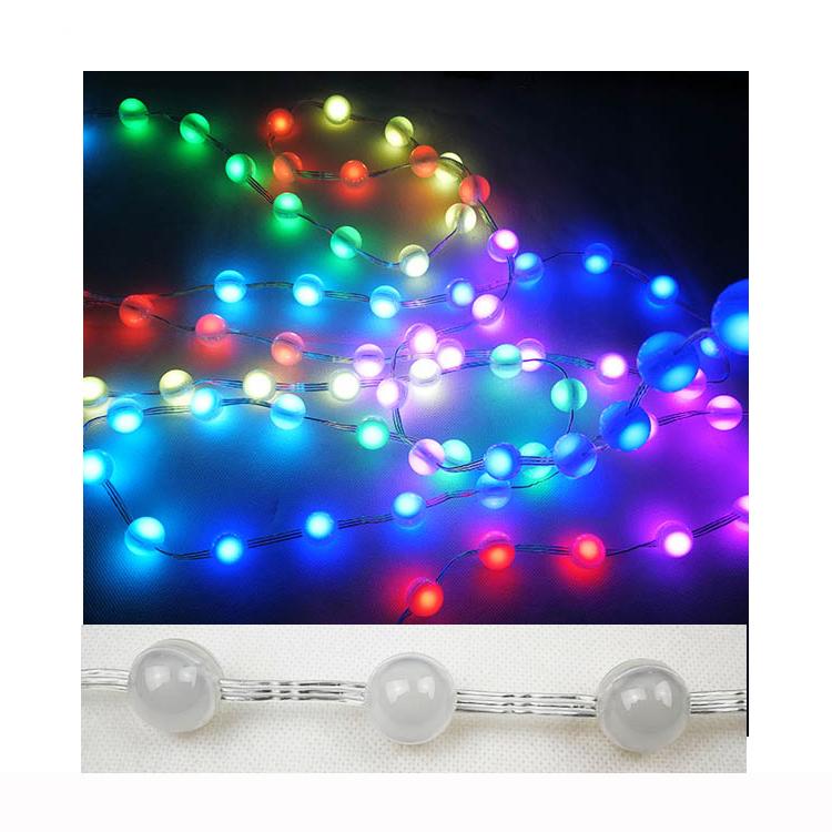 LED Diffused Digital RGB LED Pixel Light Individually Addressable Round LED Pixels Module