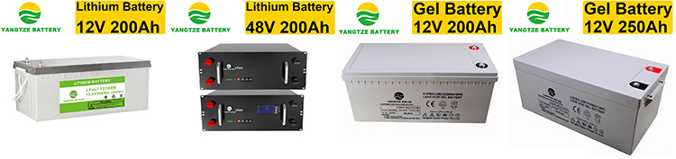 Yangtze battery deep cycle 12v 250ah batteries for ups and inverte or solar