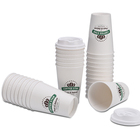 wholesale custom printed reusable double wall corrugated hot drink paper 8 oz 12 oz coffee cup