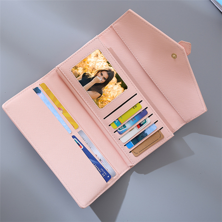fashion envelope clutch long bigger size wallet rfid women leather
