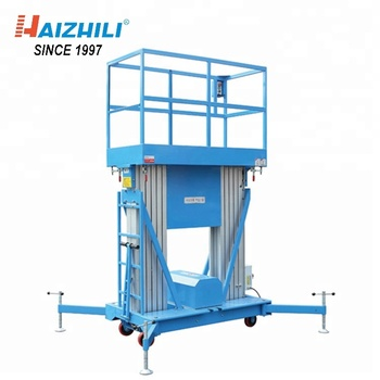 Double Mast Aluminum Lift Table 250KG 10 Meter Mobile Electric Man Lift