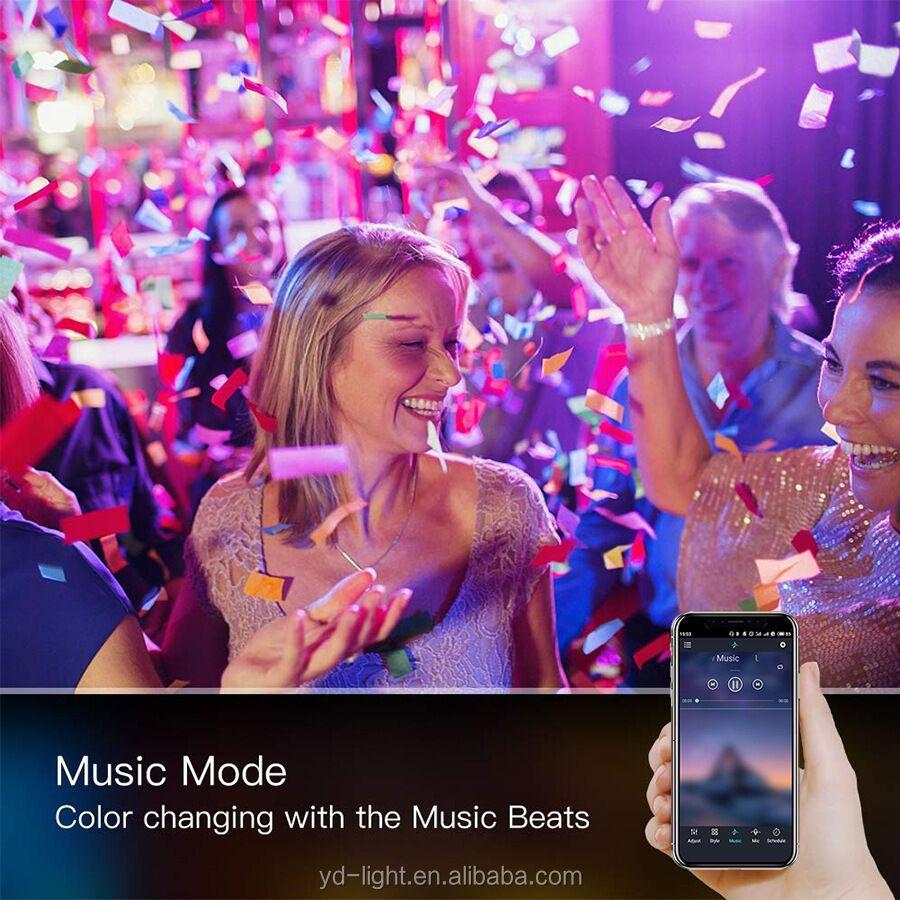 Bluetooth Remote/Musik/Suara Kontrol Mobil 5050RGB 24/44key LED Kit Suasana Interior Lampu Neon 60 LED/M LED Strip