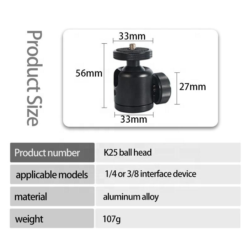 Bexin 360 Degree Swivel Bracket Holder camera Mount tripod mini ball head for DSLR Camera Light Stand flash bracket hot shoe