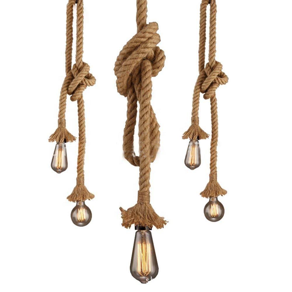 handmade vintage hemp rope chandelier /rope pendant lamp/ lighting rope