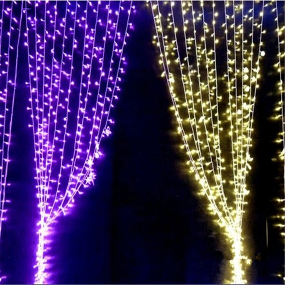 Promotional pink led light curtain for window and wall decoration 2m*2m 400leds
