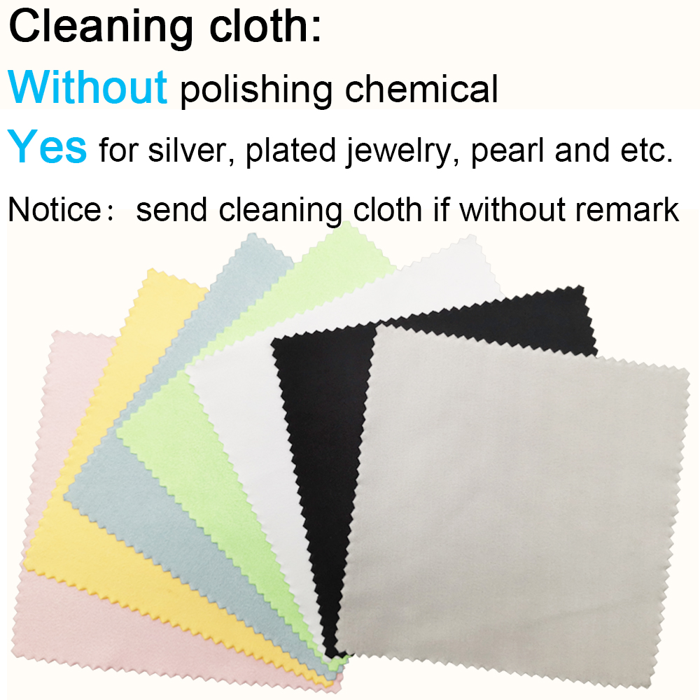 Microfiber Custom Printed Logo Sterling Silver Jewelry Cleaner Care Cleaning Polishing Cloth For Jewelry