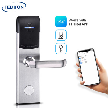 Remote Control OEM Service Smart Hotel WiFi Online bluetooth hotel lock with TTlock APP
