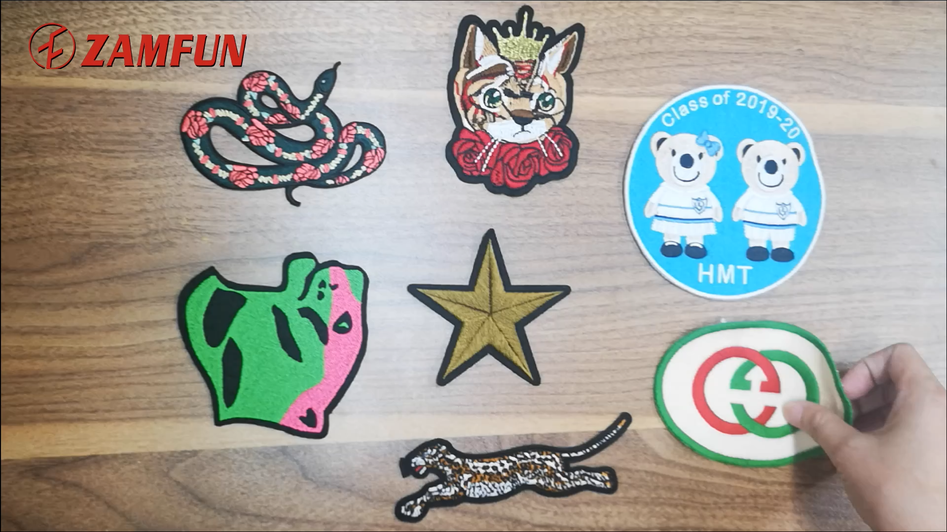 2020 ZAMFUN newest animal Embroidery Patches  Iron On Custom heat transfer embroidery patch