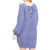 Ladies Solid Round Neck Loose Puff Sleeve Fashion Women Sweater Dress