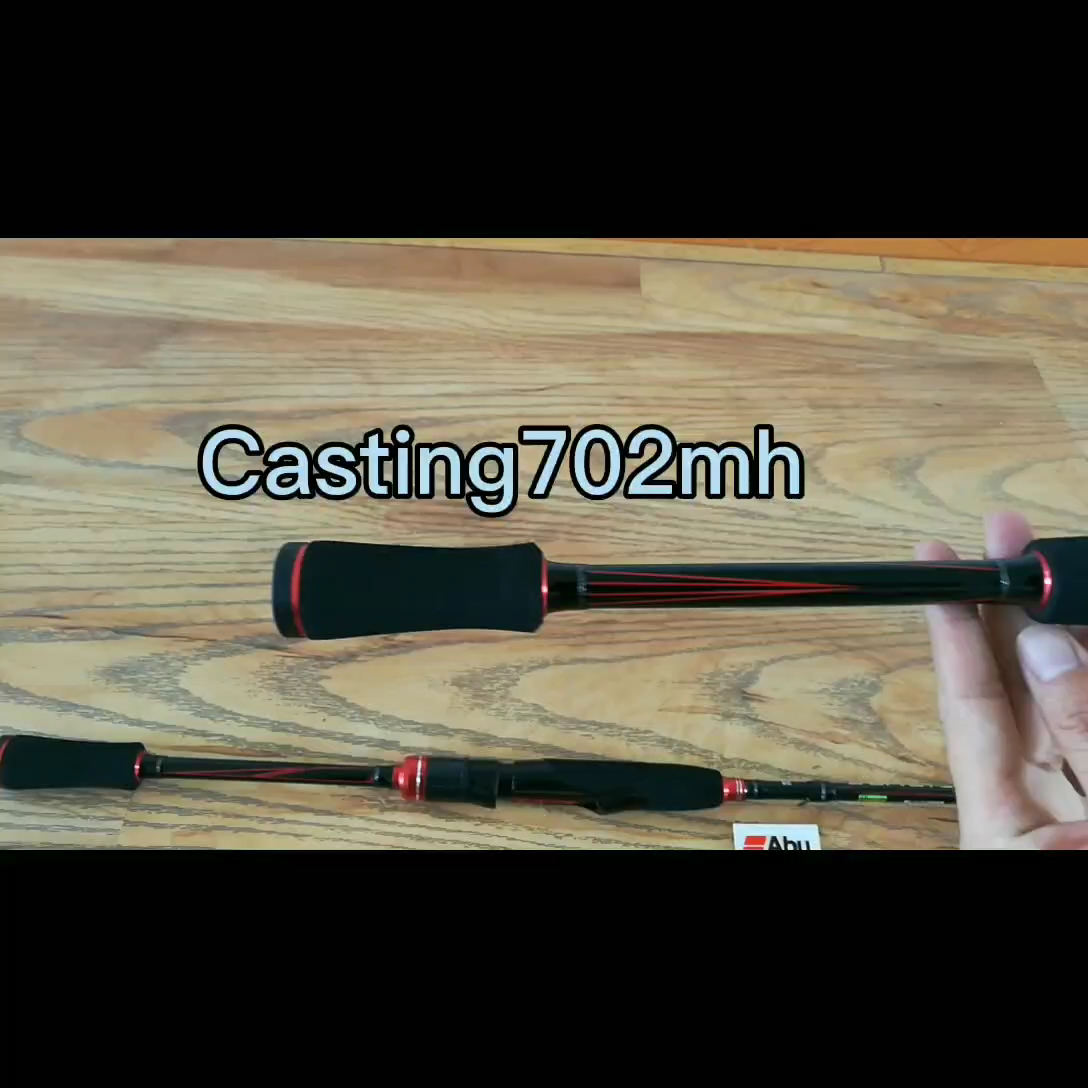 Asli Abu Garcia Baru Hitam Max Bmax Baitcasting Umpan Pancing 1.98M 2.13M 2.28M UL M MH power Karbon Spinning Fishing Rod