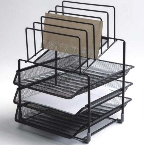 2019 New design custom metal mesh black vertical file rack for office