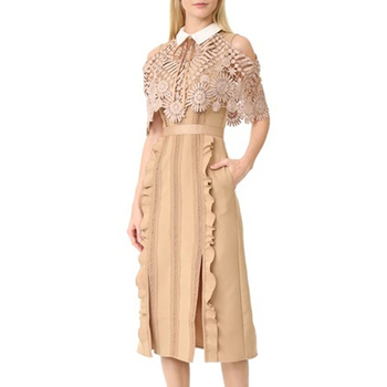 2017 The Latest Korean Style Fashion Women's lace Dress