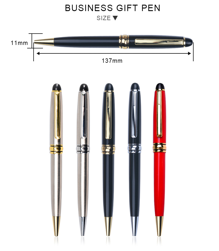 Promotional Cheap Custom Hot new products metal pen with gift box Pen Case Gift Set For business