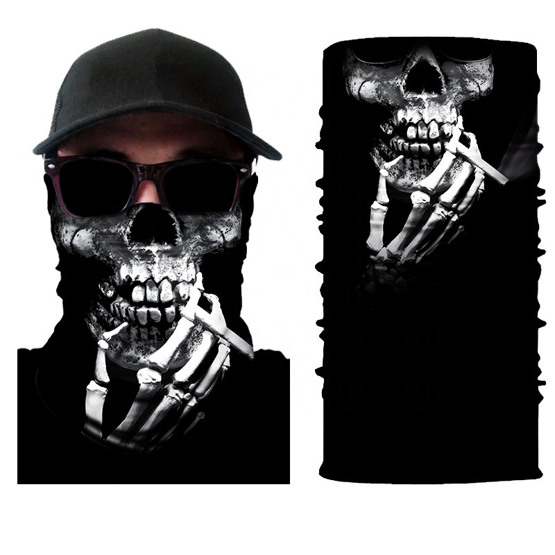 Promotional <strong>black</strong> halloween face shields mask <strong>bandana</strong> skull <strong>bandana</strong> pirate scarf <strong>bandana</strong>