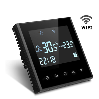 HY03WE-4-wifi Tuya smart wifi control digital LCD room thermostat with voice control and support multiple language