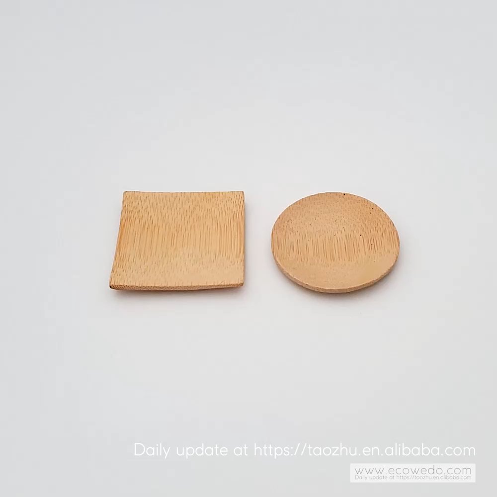 100% Biodegradable Small Bamboo Sushi Plate Dessert Dish