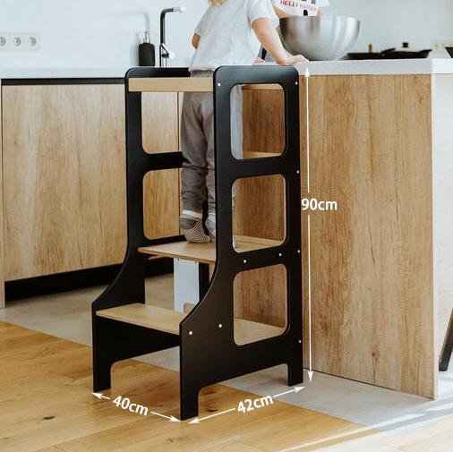 Hot selling kitchen step stool for kids helper tower learning