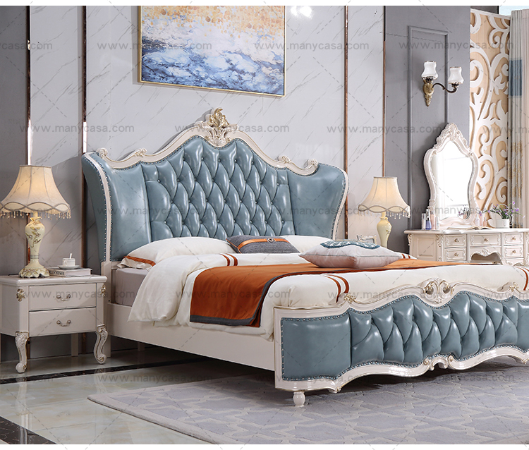 Royal French Palace Princess Leather King Size Bed Wood Carved Bed Set With Golden Crown Buy Modern Leather Bed Palace Wood Carved Bed Set King Size Bed Set Product On Alibaba Com