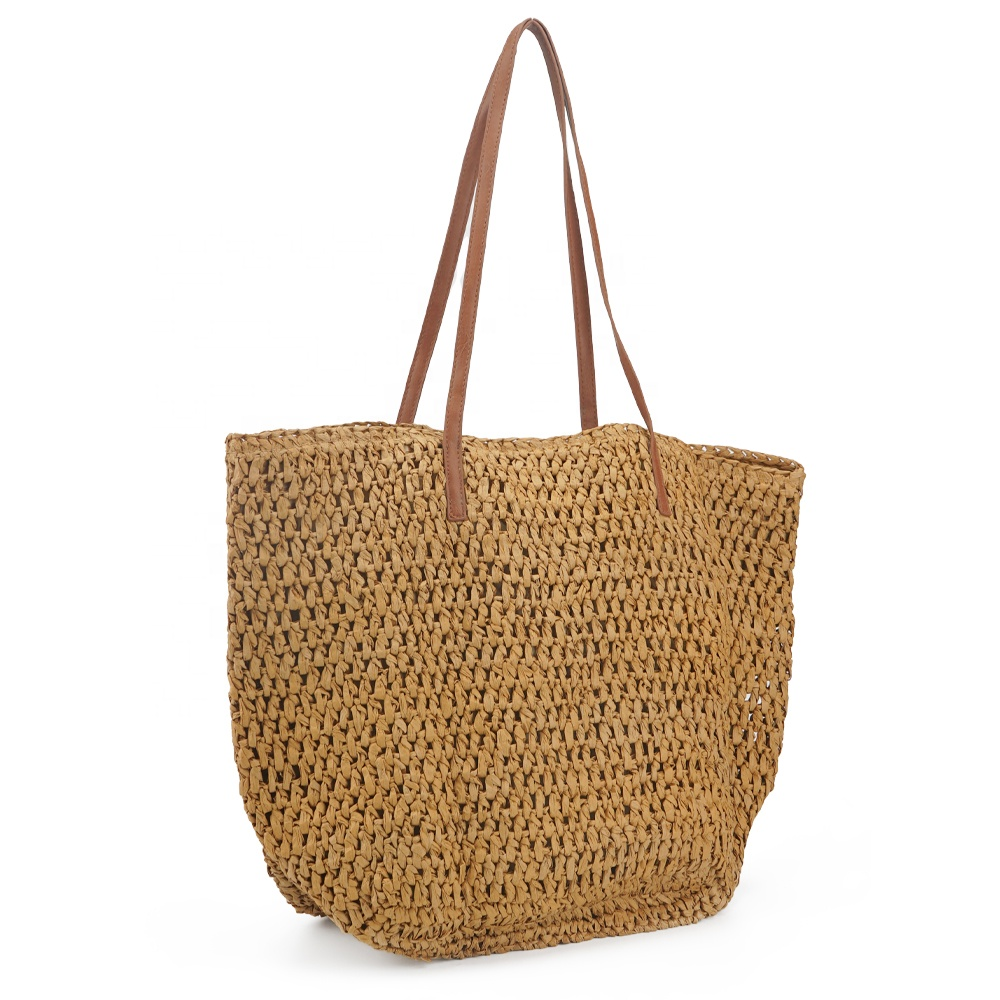 2020 summer Japanese shoulder bags beach braid straw bag with tassel