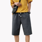 Wholesale Chinos jogging men knee length Black cotton fintes shorts